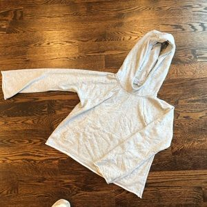 ATHLETA long cropped sweater shirt with hood